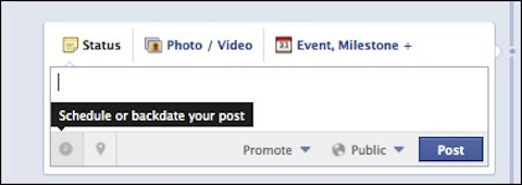 Facebook scheduled posts