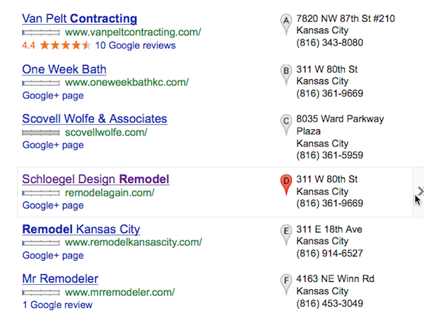 The Google Local Pack