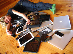 Cuddling with multiple devices