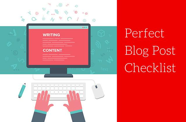 perfect blog post checklist