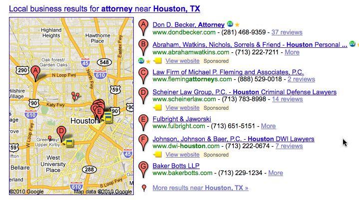 Sponsored local search
