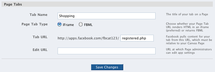 iframe in Facebook tabs