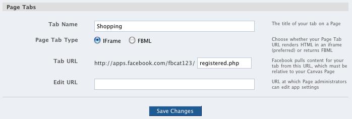 iframe in Facebook tabs