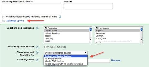 Google Keyeword Tool