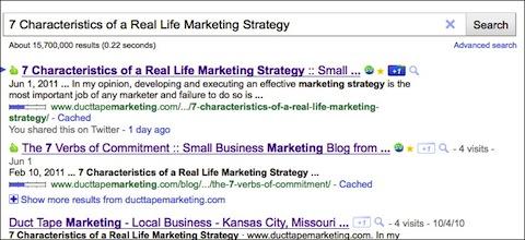 Google +1 Search