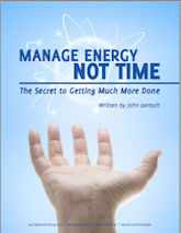 Manage Energy Not Time