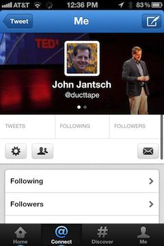 Twitter header mobile