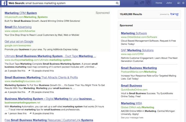 Bing Ads on Facebook