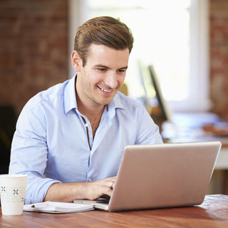 Businessman at Laptop