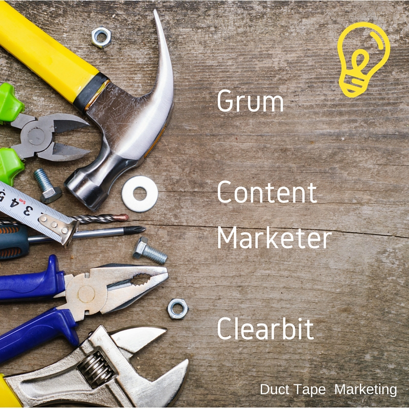 grum content marketer clearbit