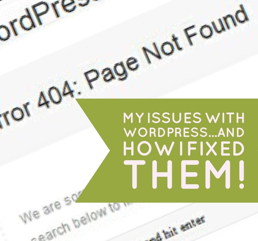 my issues with wordpress