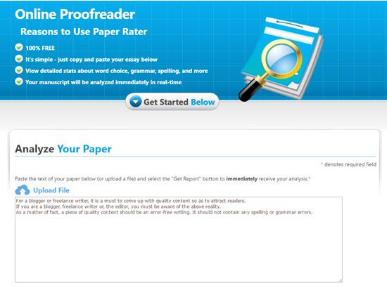 best online proofreading tools for writing error blog content as other tools it analyses your text spots errors and gives suggestions on how to improve your writing but also it rates your text in