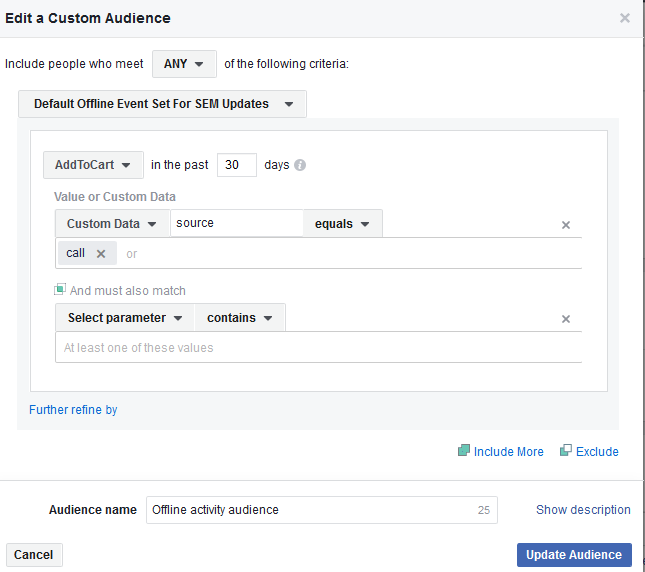 How to Create Offline Activity Custom Audiences for Facebook Ads