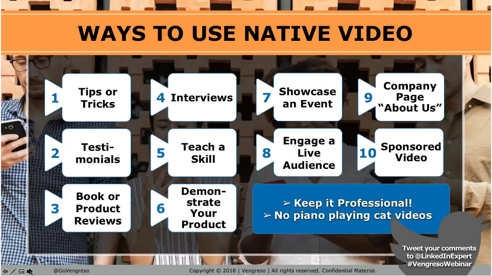 LinkedIn Native Video Tips